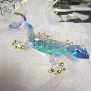 Blown Glass Geoko with Crystal Eye